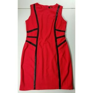 NWT ILE New York Red/Black Dress/Stretch/Size 10P